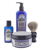 Colonel Conk Model 4010 Rio Grande Lavender 4pc Shave Kit with Brush