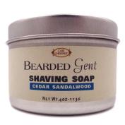 Bearded Gent - Cedar Sandalwood Shaving Soap 120ml with Kaolin Clay   Bentonite Clay