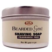 Bearded Gent - Fragrance Free Shaving Soap 120ml with Kaolin Clay | Bentonite Clay