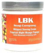 Tropical Night Mango Papaya Whipped Shaving Cream by LBK Soap Company