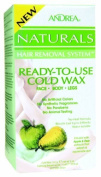 Andrea Naturals Hair Removal System Ready-to-use Cold Wax for Face, Body and Legs - Apple Pear, 150ml by Andrea Naturals Hair Removal System