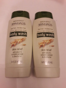 2x Total - Silkience Spa Haus - Paraben Free Body Wash Oatmeal & Shea Butter - 470ml
