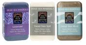 One With Nature Dead Sea Minerals Bar Soap 3 Fragrance Variety Bundle