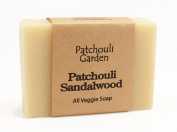 Patchouli Sandalwood Handmade Soap- All Veggie with Hemp Seed Oil