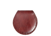Diophy Small Leather Round Shape Coin Pouch Purse 8261
