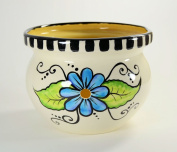 Ceramic Yarn Bowl Hand Painted Floral