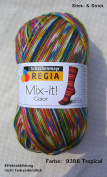 100 gr Sock Wool Regia 4-ply Mix -it tropical colour Col. 938