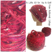 Boutique Yarn Slouchy Hat Knitting Kit Red