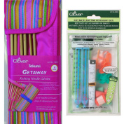 TwiceBooked Clover Takumi Knitting Needles and Accessories Gift Bundle - 7 23cm Needles in Case Plus Accessory Kit