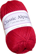 Classic Alpaca 100% Baby Alpaca Yarn #2055 Patriot Red
