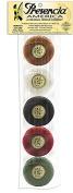 Presencia Pearl Cotton Thread Sampler - Sashiko, Embroidery & Quilting - Bertie's Autumn Sampler - Size 8 - 5 Colours - 77 yard balls