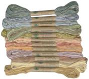 12 Valdani 6 Strand Floss Embroidery Thread Muddy Monet 10 Yd Skeins