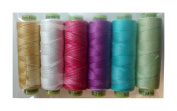 "Sue Spargo Eleganza #8 Perle 70yd Spools Polished Cotton Thread for Embroidery - Colour Set #9 ""Easter"""
