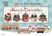 SO-G71 Owls' Christmas, SODA Cross Stitch Pattern leaflet, authentic Korean cross stitch design chart colour printed on coated paper