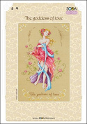 SO-G36 The goddess of love, SODA Cross Stitch Pattern leaflet, authentic Korean cross stitch design chart colour printed on coated paper