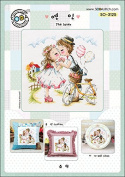 SO-3125 The lover, SODA Cross Stitch Pattern leaflet, authentic Korean cross stitch design chart colour printed on coated paper