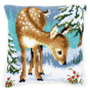 Vervaco Little Deer Cushion Cross Stitch Kit
