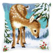Vervaco Little Deer Cushion Cross Stitch Kit