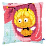 Vervaco Maya in a Pink Flower Cushion Cross Stitch Kit