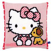 Vervaco Hello Kitty with Dog Cushion Cross Stitch Kit