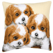 Vervaco Puppies Cushion Cross Stitch Kit