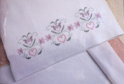 Pennsylvania Dutch Pillowcases (2) Stamped Cross Stitch