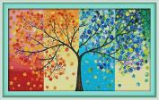 CaptainCrafts Hots Cross Stitch Kits Patterns Embroidery Kit - Four Seasons Money Tree