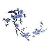 BESTOYARD Plum Blossom Flower Applique Clothing Embroidery Patch
