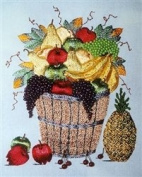 A. Bucket O'Fruit - DK Designs Pattern & Fabric #3845