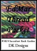 Succulent Rock Garden - DK Designs EdMar thread pkt #3824