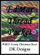 Frosty Christmas Rose - DK Designs EdMar thread pkt #3822