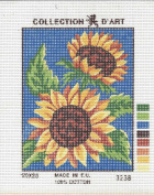 TWO SUNFLOWERS SMALL NEEDLEPOINT CANVAS