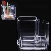 XILALU Cosmetic Make Up Clear Acrylic Organiser Lipstick Brush Swabs Storage Display Holder