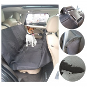Petcaree Waterproof Bench Pet Seat Cover for Cars and SUV ,Heavy Duty 600D Oxford, 55''Width ×150cm Length,Black