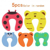 Children Safety No Finger Pinch Foam Door Stopper. Colourful Cartoon Animal Cushion - Ramdom Bundled Baby Child Kid Cushiony Finger Hand Safety