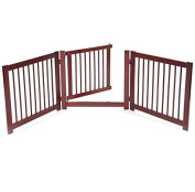 Pet Gates With Door Free Standing Fence Dog Safety Wide Adjustable Hallway Doors