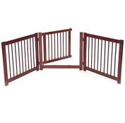 Pet Gates With Door Free Standing Fence Dog Safety Wide Adjustable Hallway Doors