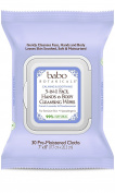 Babo Botanicals 3-in-1 Calming Cleansing Wipes, French Lavender & Meadowsweet, 30 Count