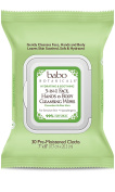 Babo Botanicals 3-in-1 Hydrating Cleansing Wipes, Cucumber & Aloe, 30 Count