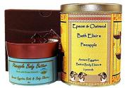 Gift Set,Epsom & Oatmeal Bath Elixir,Body Butter,Pineapple Fragrance