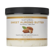 Sunaroma Sweet Almond Butter (470ml) - Best Almond Butter for Skin Provides Deep Hydration and Helps Reduce Signs of Ageing - Promotes Long, Shiny, Frizz-Free Hair - Great for Nail Care or DIY Projects