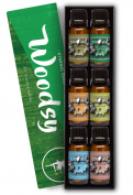 Woodsy Gift Set of 6 Premium Grade Fragrance Oils - Frankincense, Pine Needle, Cedarwood, Bamboo & Teak, Woodland Bay, Sandalwood - 10Ml - Scented Oils