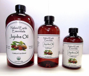 100% Jojoba Oil Cold Pressed Golden Unrefined ORGANIC Naked Earth Essentials