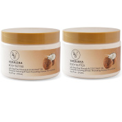 2 Pack Dead Sea Salt & Lavender Essential Oil Body Scrub With Dead Sea Salt Minerals