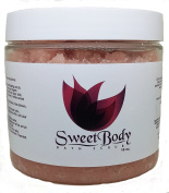 Body Scrub with Himalayan Salt, Deep Cleansing Exfoliator With Vitamin E and A, Moisturises Nourishes Soothes & Promotes Glowing Radiant Skin, Body Wash - 470ml by SweetBody