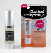 Brightening Vitamin C Eye Gel by Sirius Advantage with FREE 100% Natural Fresh Citrus Chapstick Total Hydration Lip Balm