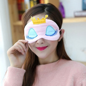 YANQINA Eyes Cover Princess Crown Style Travel Sleeping Blindfold Shade Eye Mask