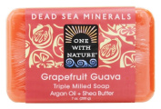 One With Nature - Dead Sea Minerals Triple Milled Bar Soap Grapefruit Guava - 210ml