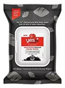 Yes to Tomatoes Detoxifying Charcoal Facial Wipes 30 Count per Pack
