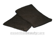 essentialbeautycare Pair Of Terry Towelling Wash Mitts Black